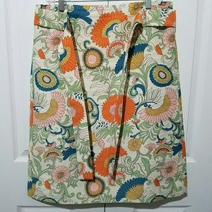 J. Crew Skirts - J CREW Tie Waist Skirt Ornate Floral G0962 Size 10